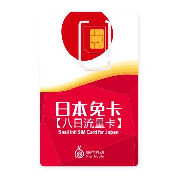 日本免卡【七日流量卡】