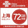 上海联通72GB年卡